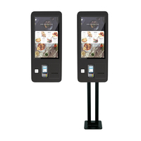 27 Inch Self Service Order Machine Terminals Lcd Screen Payment Kiosks With Thermal Printer