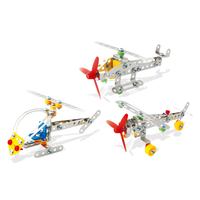 Pre-school Children Toy 3-IN-1 Assemble Aircraft and Ship Aeronautical Model