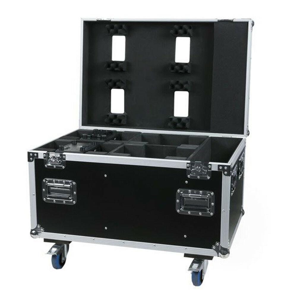 Aluminium Flightcase for FOR 4X Showtec PHANTOM 70 BEAM / 120 WASH Moving Head