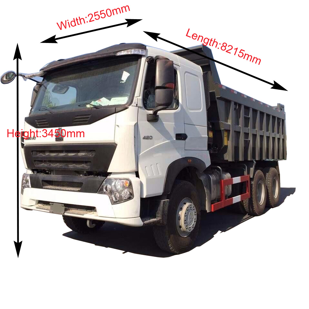 Eur4 ساينو تراك Howo A7 شاحنة قلابة شاحنة قلابة 20 متر