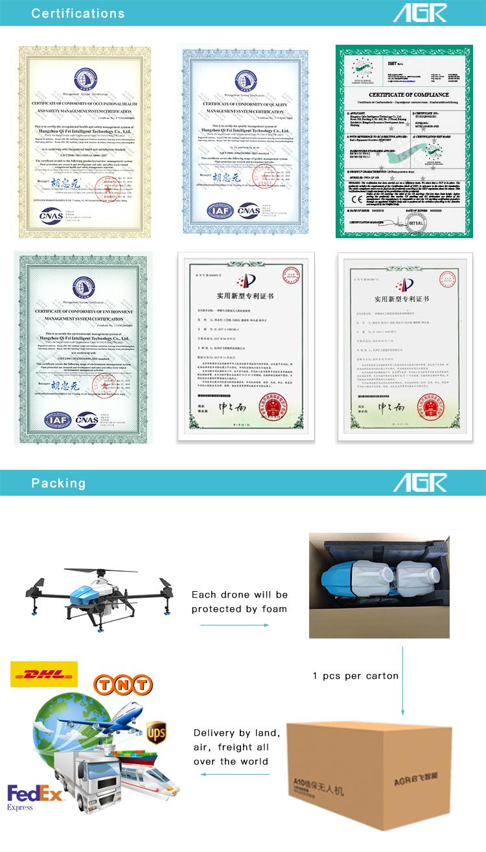 16L RTK funzione evitamento ostacolo radar agricoltura spruzzatore drone UAV frame con elica e gps