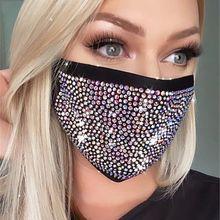 Новинка, кристальная Маскарадная маска для лица для женщин, винтажные вечерние аксессуары, маска для рта, популярные вечерние Ювелирное Укр...(Китай)
