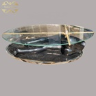 Modern decorative sexy lady base black marble coffee table