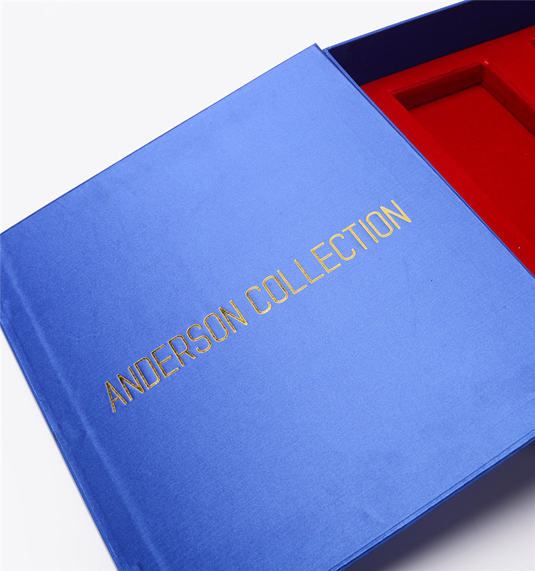 Manufacturer Custom Luxury Satin Gift Jewelry Paper Cardboard Book Shaped Magnetic Closure Packaging Rigid Box