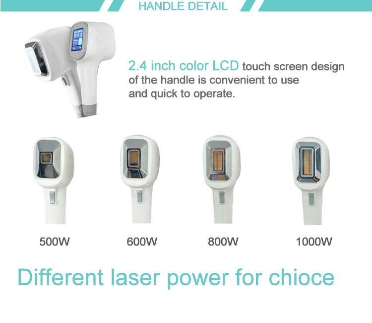 TEC condenser cooling system 810nm 808nm diode laser hair removal device machine
