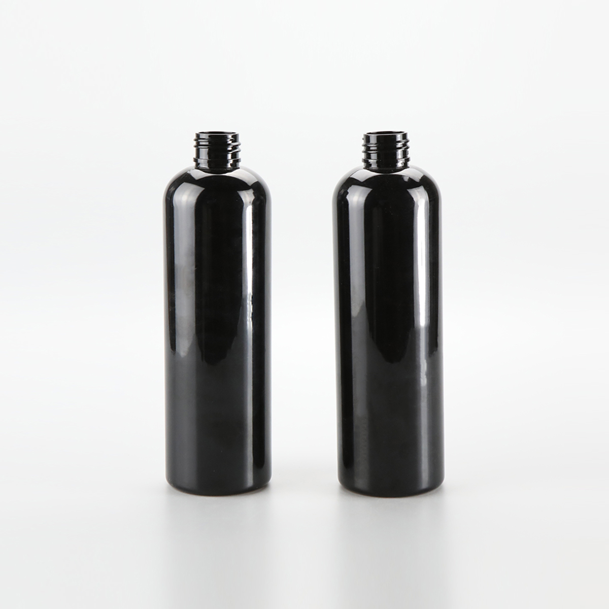 60ml 120ml 250ml 450ml Black cosmetic cosmo round plastic packaging bottle