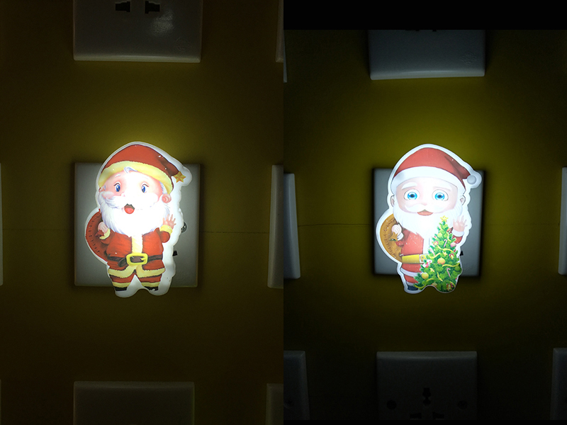 OEM W086 US mini switch plug in xmas christmas trees Santa Claus led night light For Baby Bedroom
