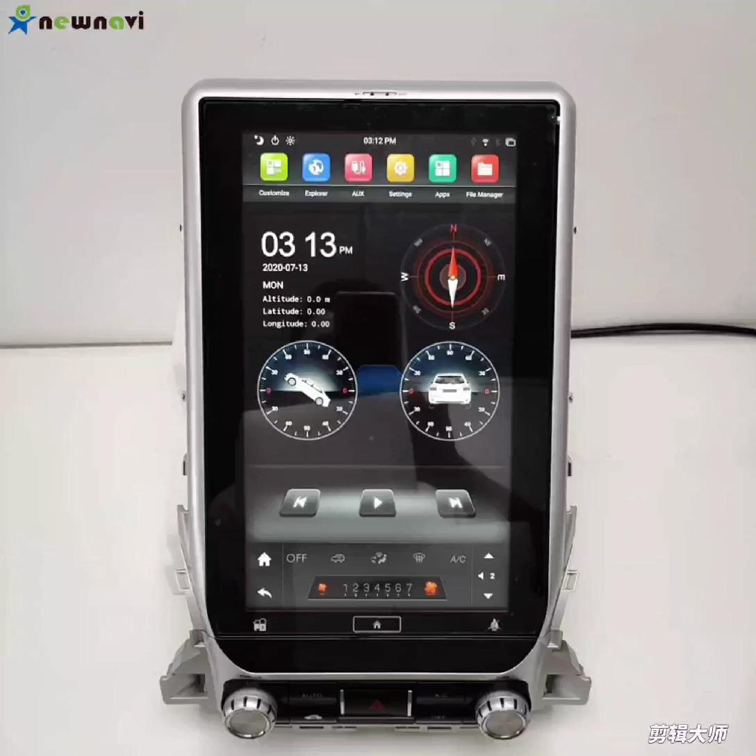 NEWNAVI 14,1 дюймовый сенсорный экран Тесла стиль автомобильный DVD-плеер Android 7,1 Встроенный GPS Автомобильное видео для TOYOTA LAND CRUISER LC200 2016