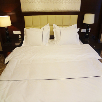 Wholesale Cotton 5 star Hotel Satin white Bedding Set Bed Linen