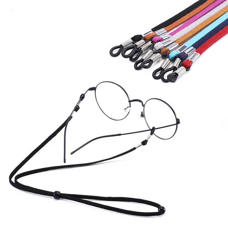 Fashion Custom Sun Glasses Straps Chain Leather Adjustable Eyewear Glasses Strap
