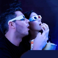 3d Red Blue paper glasses for watching 3d movies