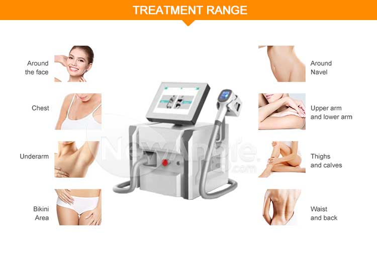Portable diode laser hair removal 755 808 1064 machine price