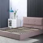Bed Wood Durable Double King And Queen Size Storage Bed Frame Base With Wood Slats For Hotel