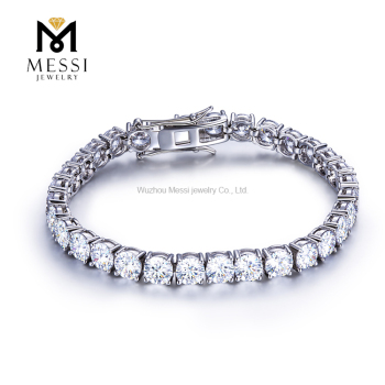 Messi Jewelry Classic 0.5ct DEF white 925 silver 14k 18k gold tennis moissanite diamond bracelet