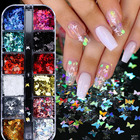 Butterfly For Glitter 3D Butterfly Nail Glitter Sequins Laser Holographic Glitter For Craft Wedding Party