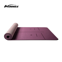 Tpe Two Layer Natural Anti-slip Eco-friendly Unique Yoga Mat