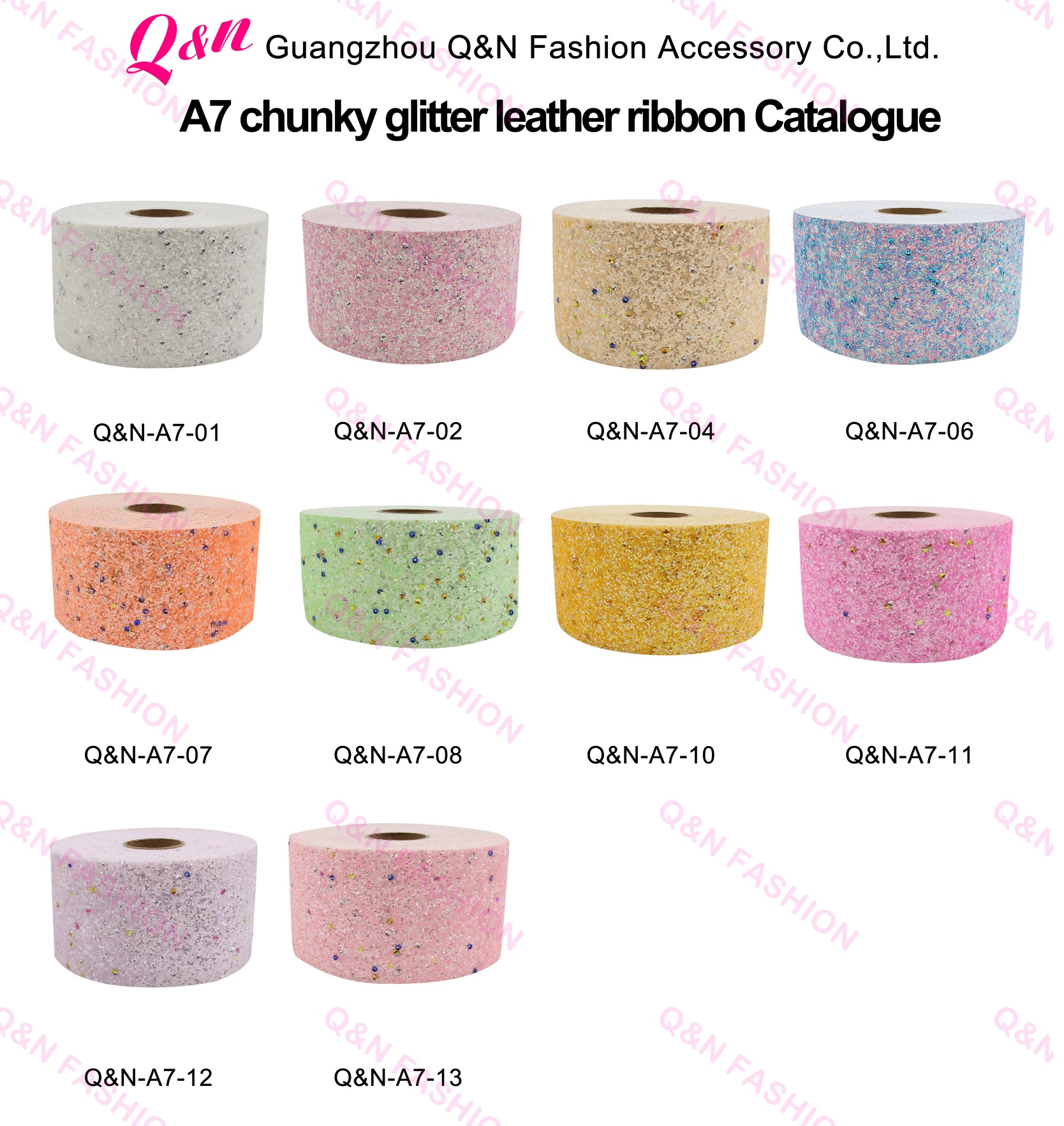 DIY Hair Bows Crafts 3'' 75mm Chunky Glitter Faux Leather Ribbon For Christmas Ribbon Hair Bow