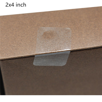 Hybsk 2x4 inch Rectangle Square Crystal Clear Retail Package Seals Circle Wafer Stickers/Transparent Labels 200 Per Roll