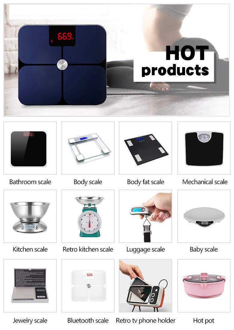 HYD ITO Électronique Domestique Analyseur De graisse Bluetooth Pesant balance corporelle