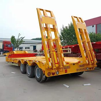 3 Axles 4 Axles 50Ton 60Ton low bed Lowbed Low Bed Semi Trailer Truck For Sale