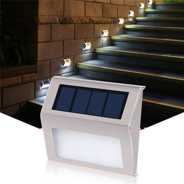 Zhongshan best home exterior stair garden lights outdoor wall solar step light