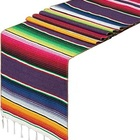 Mexican Fiesta Party Cinco De Mayo Decorations 84 inches Mexican Serape Table Runners