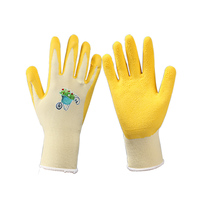 colorful LATEX kids gardening gloves