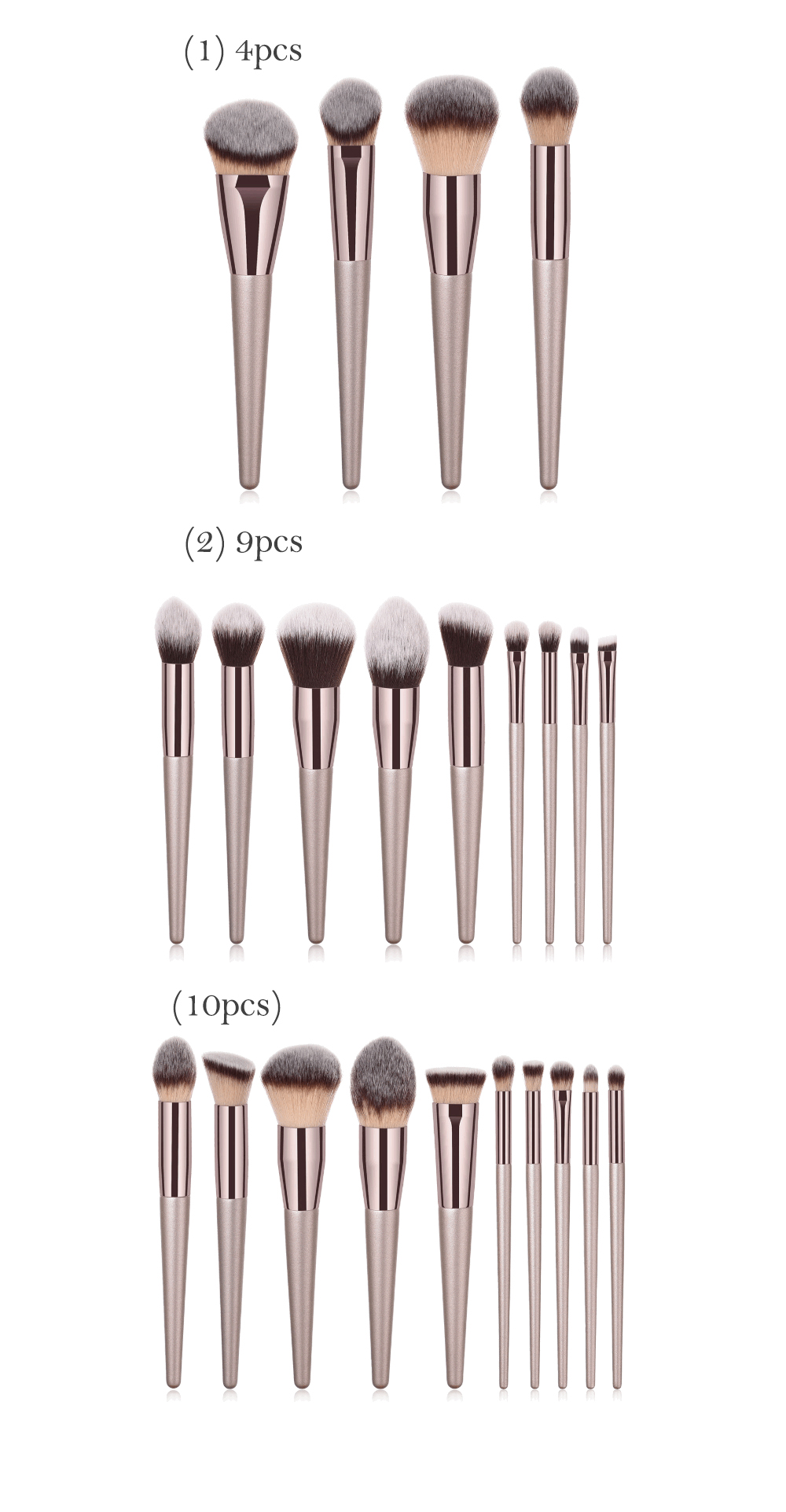20pcs Amazon your own brand organic oem novelty personalized foundation kabuki make-up cosmetic set make up makeup brush