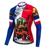Custom Autumn Cycling Jerseys Riding Sports Pro Team Red Mtb Long Sleeve Men Bike Wear Cycling Clothing Bike Shirts