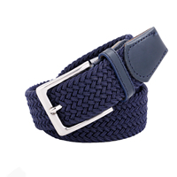 Quality alloy buckle elastic ceinture braided fabric belt for unisex