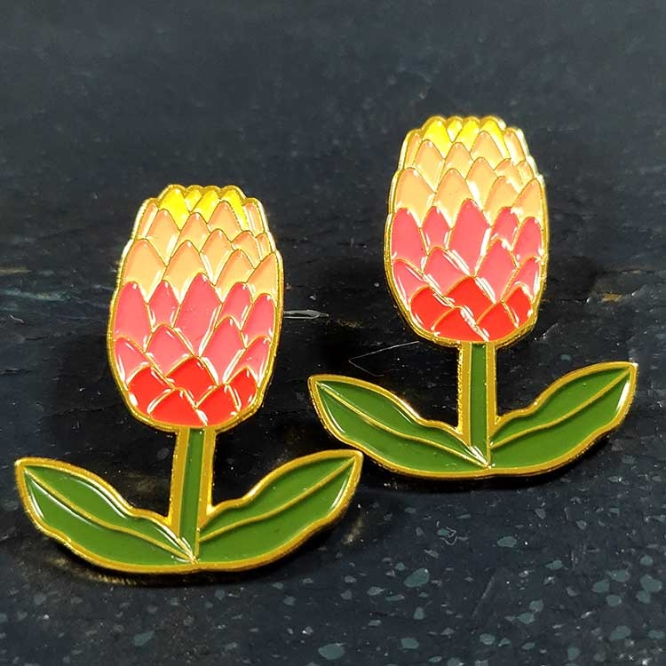 Bulk Metal Brooch Enamel Flower Custom men's Lapel Pin Manufacturers China No Minimum
