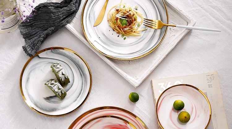 WKTP009 китайская фабрика фарфора с суповую тарелку, производство Китай, красочные круглые дизайн керамическая тарелка для фруктов, изготовленным на заказ логосом керамическая Суповая тарелка