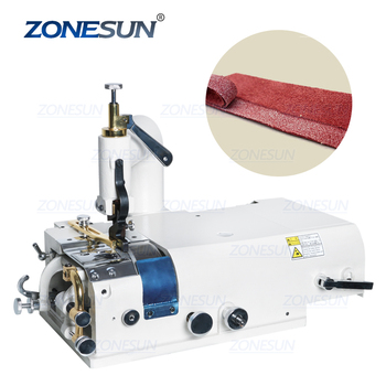 ZONESUN 801 Electric Leather Skiving Machine Bottom Feed Bell Knife Skiver Leather Skiver Vegetable Tanning Scrape Thin Tool