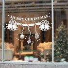 ETIE wholesale pvc vinyl waterproof removable christmas window sticker holiday custom decal decor for christmas