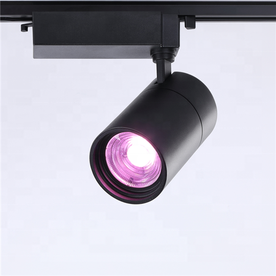 Hot sale  Retail Spot Lighting Fixtures Surface Mounted Spotlights Linear Magnetic Rail COB Led Track Light for indoor