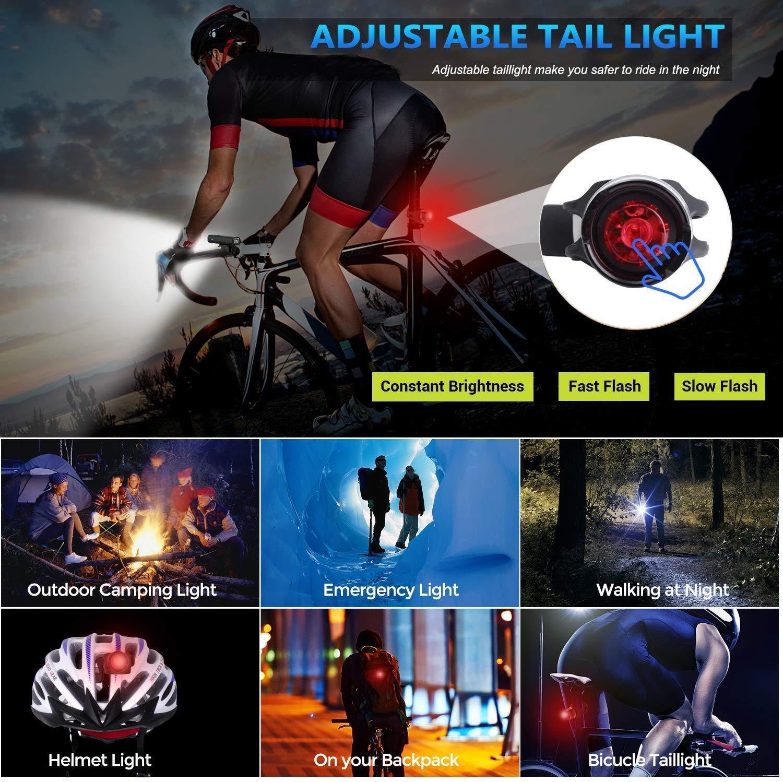 USB şarj edilebilir bisiklet ışık bisiklet kilometre sayacı LED el feneri döngüsü hız göstergesi fabrika doğrudan satış