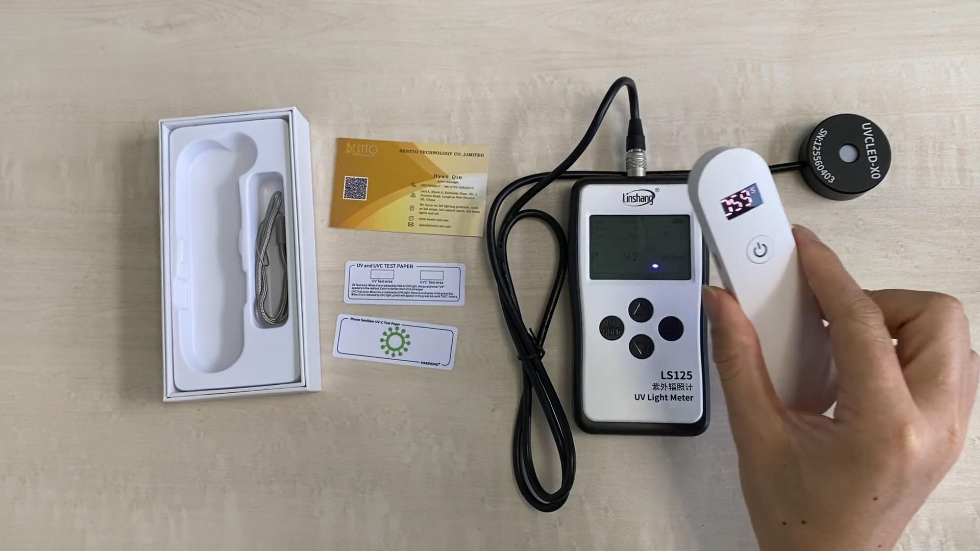 2W Mini easy to carry portable Handheld Small 270nm Led UVC Light Lamp UV Sterilizer Wand