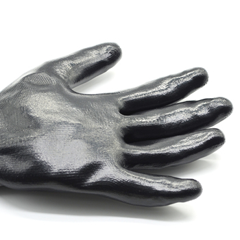 Hampool Wholesale Durable Working Emboss Cut Proof Protection Coated Black Gloves