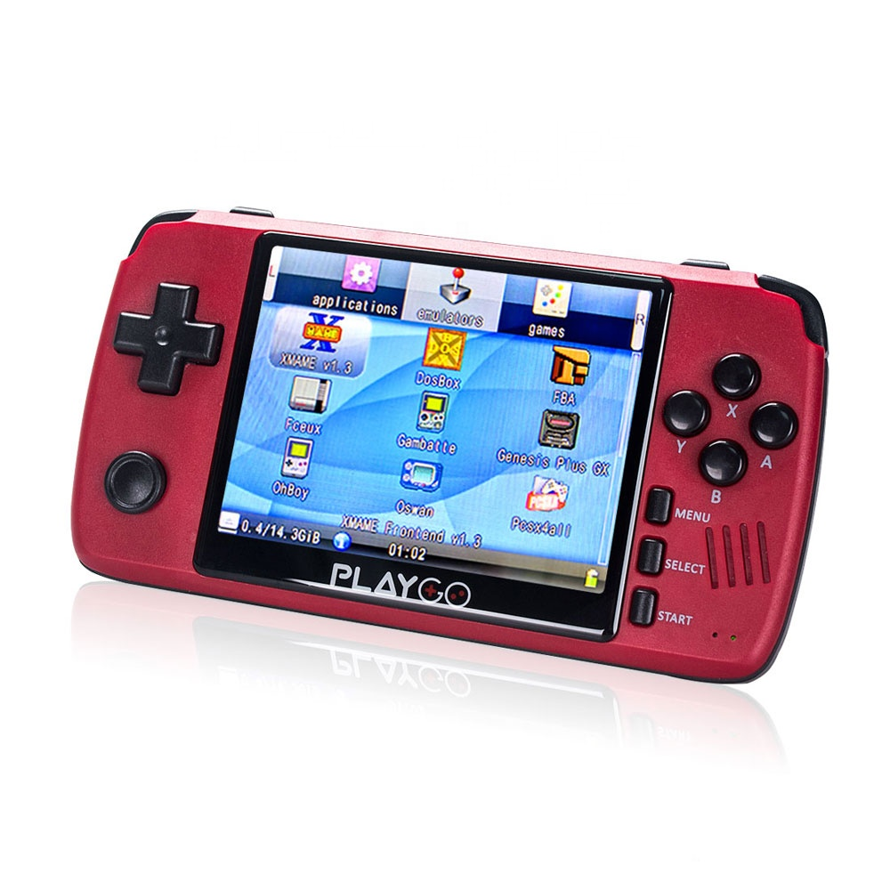 2020 New High Quality Hot Selling Red Pocket Player 3.5 Inch Ips Screen Preloaded <strong>1000</strong> Games Playgo Handheld Game Console