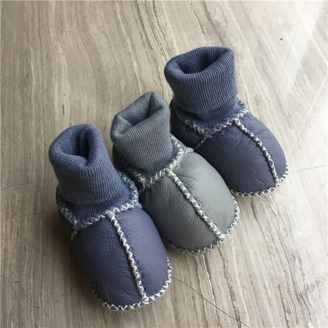 Winter baby shoes boots fur wool girls baby booties