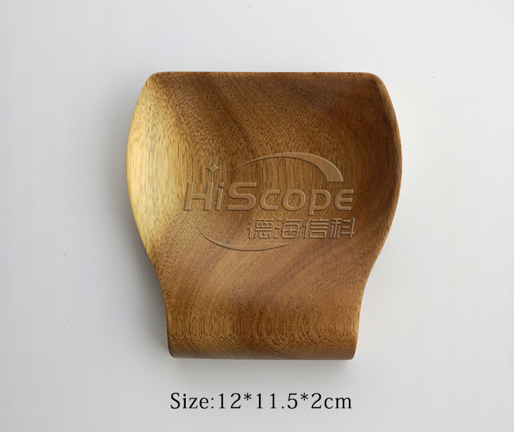 wooden kitchen accessories spoon rest  acacia wood spoon holder