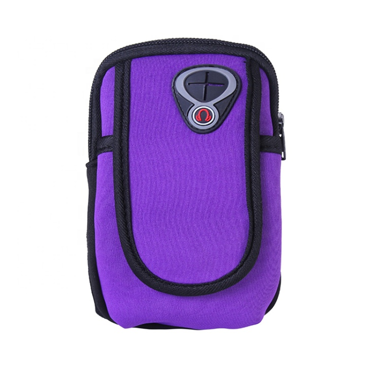 Soft polyester waterproof fabric arm holder bag for phone