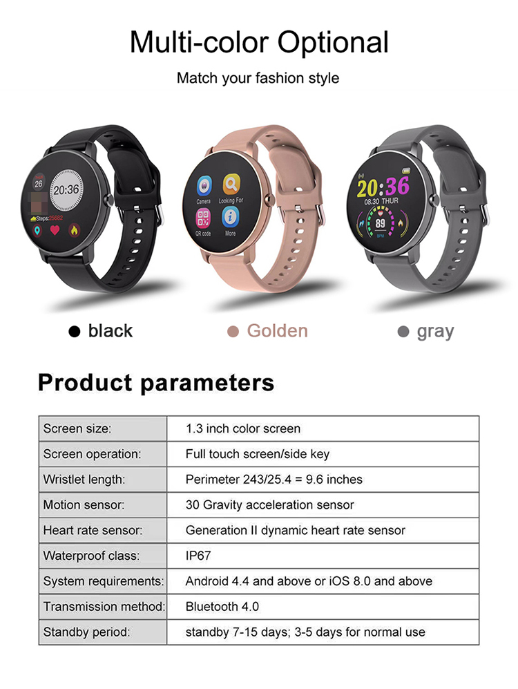 2020 New P8 Smart Wristwatch Monitoring Sleeping Heart Rate Information Reminder Bracelet