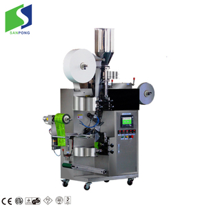Inner and outer tea bag with tag and string packing machine for small business