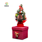 Christmas Tree Music Box OEM Printed Cardboard Gift Paper Packaging Biscuit Cake Candy Box