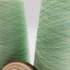 Cotton Blended Yarn Wholesale Brushed Green Acrylic Fancy Brush For Knitting A Scarf