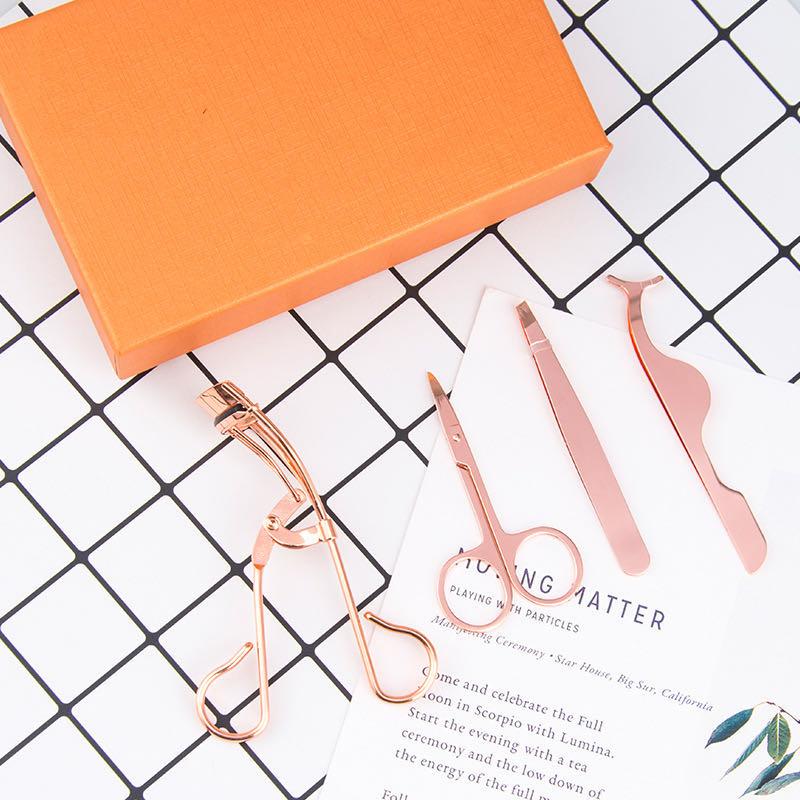 Bán Buôn Biểu Tượng Tùy Chỉnh Lông Mi Chồn Make Up Sang Trọng Lash Công Cụ Lông Mi Tweezer Set Cho Phụ Nữ