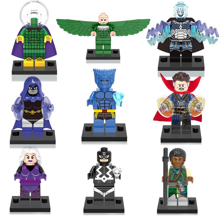 Superhero Lego Brick Mini Action Figure Plastik Bangunan Blok Mainan untuk Anak-anak Kompatibel 23 Pcs