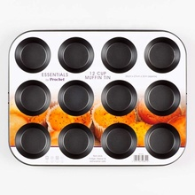 12 Cups Carbon Staal Taart Bakvorm Cupcake Anti-aanbak Coating Muffin <span class=keywords><strong>Pan</strong></span>