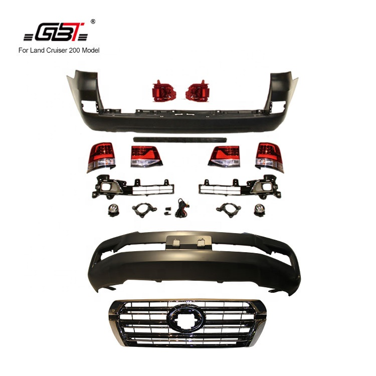 GBT front&rear car bumper grille rear bumper light year for 2008-2015 Upgrade to 2016 For Toyota Land Cruiser 200 LC200